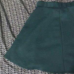 Charlotte Russe Turquoise Skater Skirt